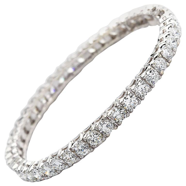 Diamond Gold Tennis Bracelet Bangle Bracelet 1