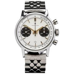 Hamilton Stainless Steel Panda Manual Wind Wristwatch Ref 7723