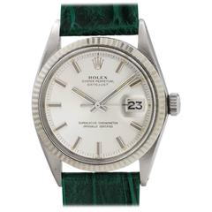 Rolex Stainless Steel Datejust Fat Boy Self Winding Wristwatch, Ref 1601