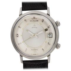 Lecoultre Stainless Steel Memovox Alarm Jumbo Automatic Wristwatch, circa 1964