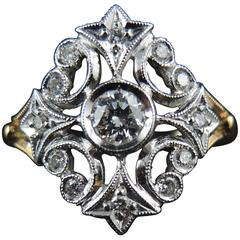 Belle Époque Style Ring with Diamonds