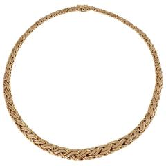 Tiffany & Co. Graduated Braided Byzantine Gold Necklace