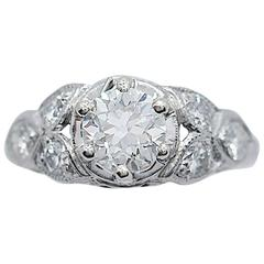 .85 Carat Diamond White Gold Engagement Ring