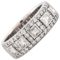 18K White Gold Diamond Band