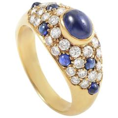 Cartier Sapphire Diamond Yellow Gold Ring