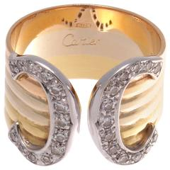 Cartier C Diamond Gold Ring