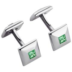 Tsavorite White Gold Cufflinks