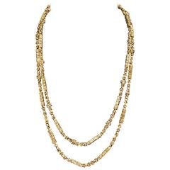 Heavy Gold Link Chain, 19th Century