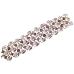 Sensational Tony Duquette 272 Carat Multicolored Amethyst Gold Bracelet