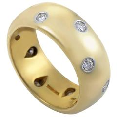 Tiffany & Co. Etoile 10 Diamond Yellow Gold and Platinum Band Ring