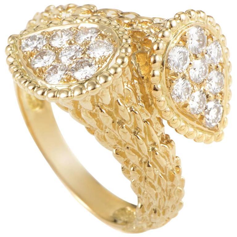 adce2af075ce88 Boucheron Diamond Yellow Gold Serpent Bohème Toi et Moi Ring at 1stdibs