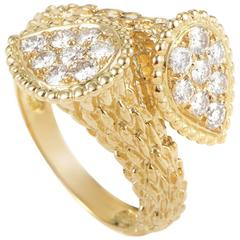 Boucheron Diamond Yellow Gold Serpent Bohème Toi et Moi Ring