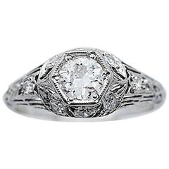 .42 Carat Diamond Platinum Engagement Ring