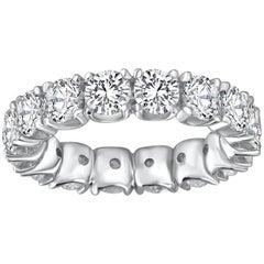 Diamond 18 Carat Total Weight White Gold Band Ring