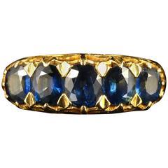 Antique Victorian Sapphire Gold Ring 18 Carat, circa 1900