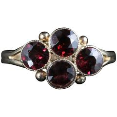 Antique Victorian Almandine Garnet Ring, circa 1900