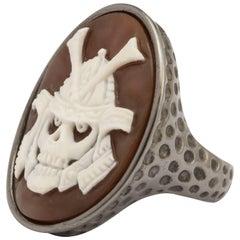 """Amedeo """"Skull Samurai"""" Cameo Ring"""