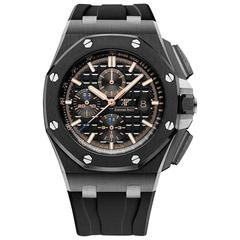 Audemars Piguet black ceramic Royal Oak Offshore Automatic Wristwatch