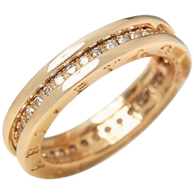 Bulgari Diamond Yellow Gold B.Zero 1 Ring