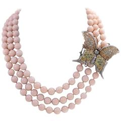 Luise Gold Silver Diamond Sapphie Stone Beaded Necklace