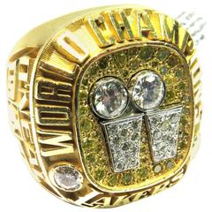 Shaquille O'Neal 2001 Los Angeles Lakers Championship Diamond Gold Ring