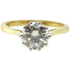 Diamond Engagement Ring, 1.26 Carat Brilliant Cut, Sheffield Hallmark 2000