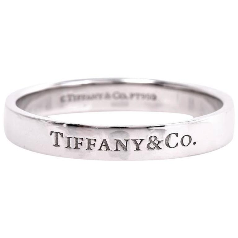 Tiffany and co men s platinum wedding ring for sale at for Tiffany mens wedding ring