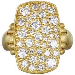 Faye Kim Diamond Pave Chiclet Ring