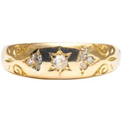 English Victorian Diamond Yellow Gold Ring