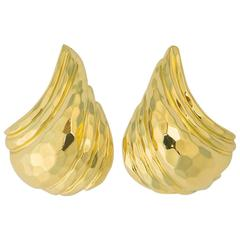 Henry Dunay Faceted Gold Earrings