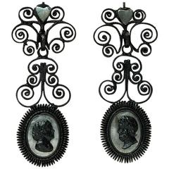 Antique Berlin Iron Earrings