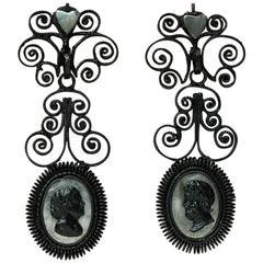 Antique Berlin Iron Earrings