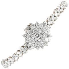 Blancpain Ladies White Gold Diamond Hidden Watch Bracelet, circa 1940s