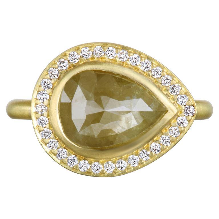 Faye Kim Raw Diamond Gold Ring