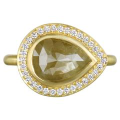 Faye Kim Raw Diamond Gold Ring
