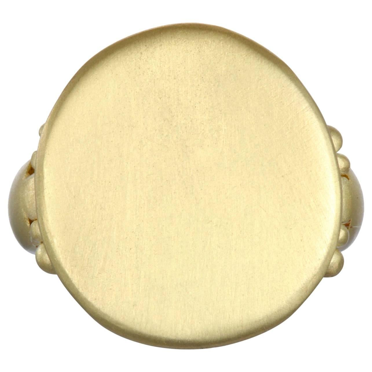 Faye Kim 18k Gold Signet Ring
