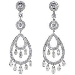 Boucheron Cinna Pampilles Diamond and White Gold Pendant Earrings