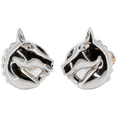 De Grisogono White Gold Horse Head Cufflinks
