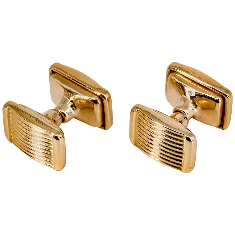 French Rose Gold Retractable Cufflinks 1