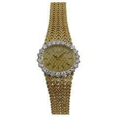 Rolex Ladies Yellow Gold Diamond Bezel Vintage Manual Wind Watch/ Wristwatch