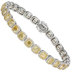 Fancy Yellow Diamonds Tennis Bracelet