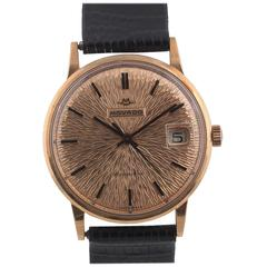 Movado Rose Gold Kingmatic Automatic Wristwatch