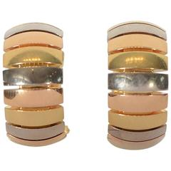 Cartier Tricolor Hoop Earrings