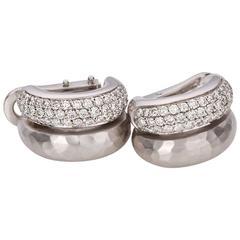 H.Stern Diamond White Gold Hoop Earrings