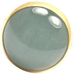 Gurhan Large Aquamarine Yellow Gold Ring
