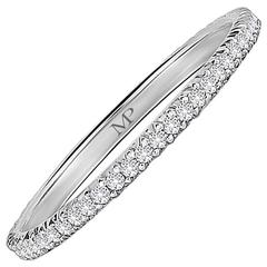 Marisa Perry Half Point Diamond Platinum Eternity Band
