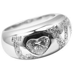 Chopard Heart Shape .53 Carat Diamond Love White Gold Band Ring
