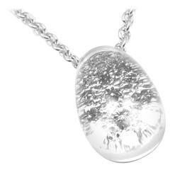 Cartier Myst de Cartier Rock Crystal Diamond White Gold Dome Necklace