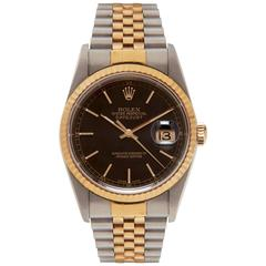Rolex Gold Stainless Steel Oyster Perpetual Datejust Wristwatch Ref 16223