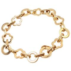 Chanel Camelia Yellow Gold Link Bracelet